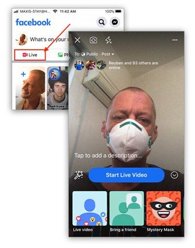 facebook live call