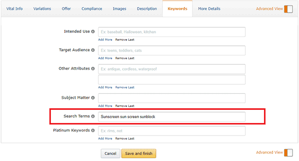 amazon backend-keywords