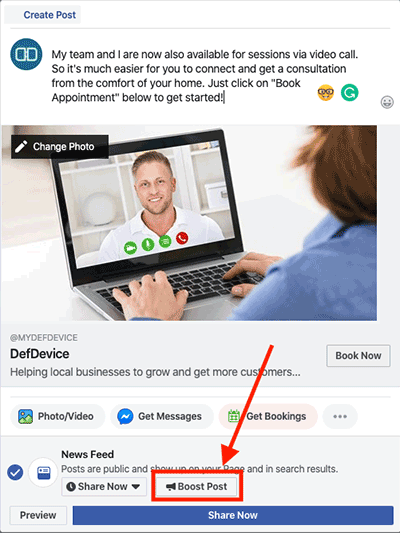 your medical practice Facebook ad